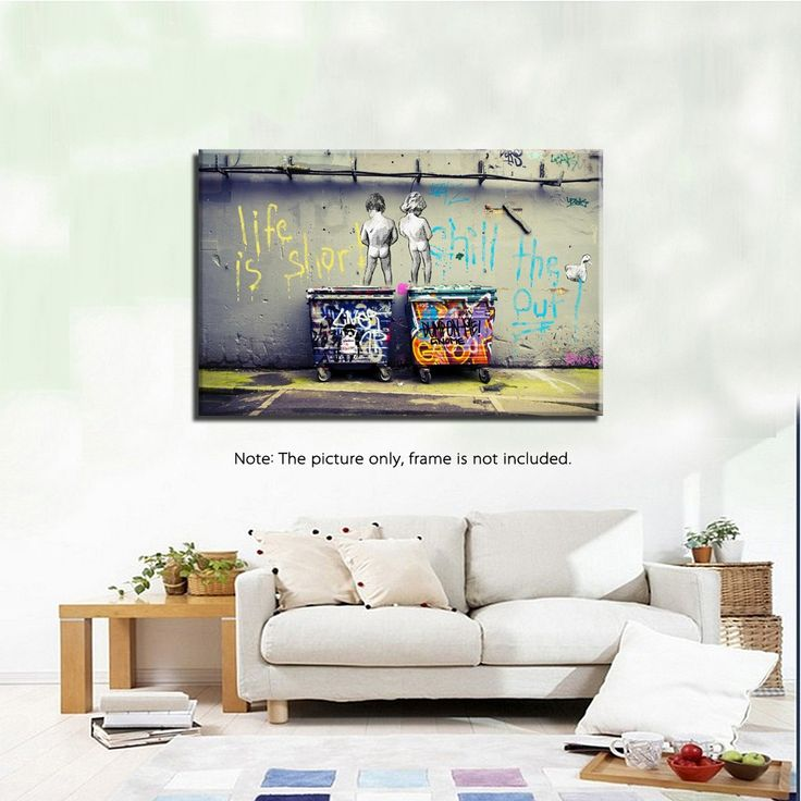 50 * 70cm HD Printed Frameless Scrawl Kids Style Canvas Painting Wall Art Pictures Decor for Home Living Room Bedroom Sales Online Array - Tomtop