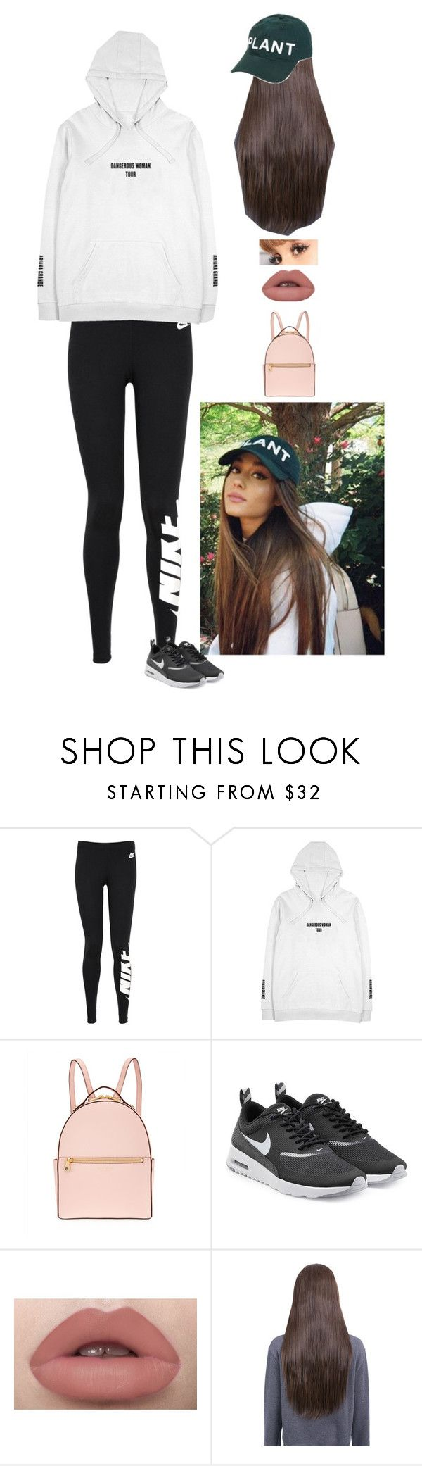 """Ariana Grande Inspired Outfit"" by moonlightbae264 ❤ liked on Polyvore featuring NIKE, Henri Bendel and ArianaGrande"