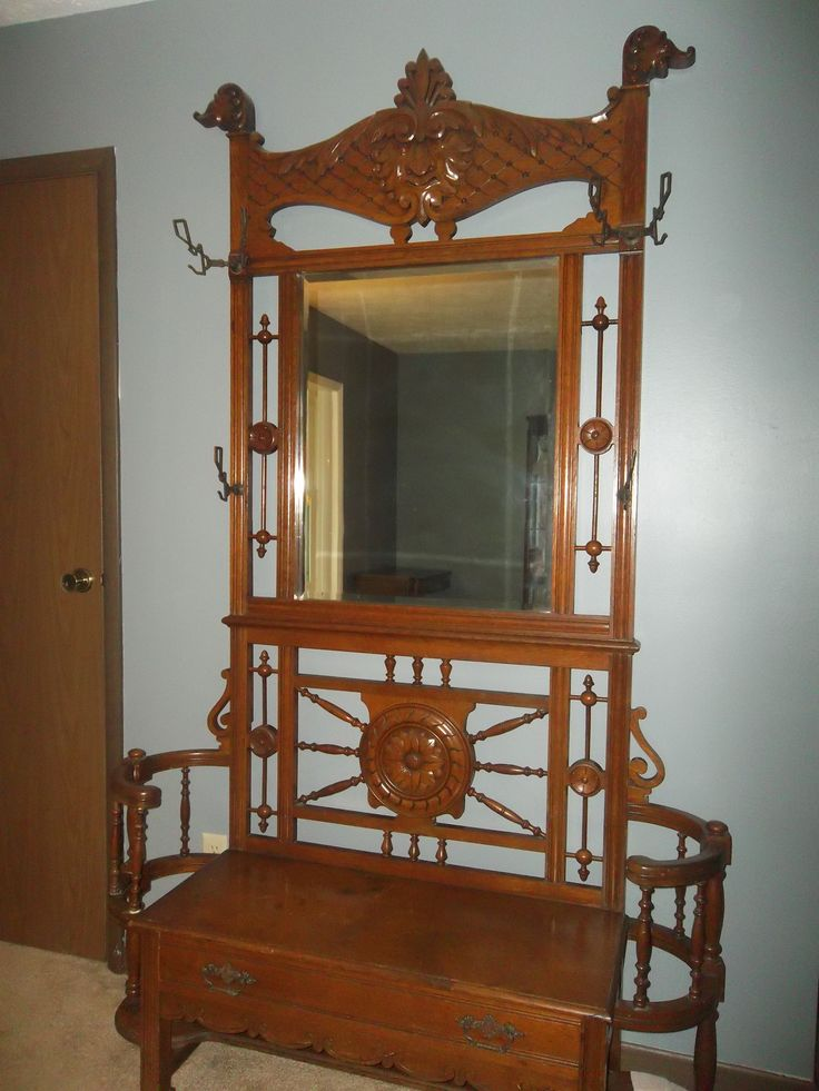 17 Best Images About Antique Hall Trees On Pinterest Hall Tree Bench Coat Storage And Entryway