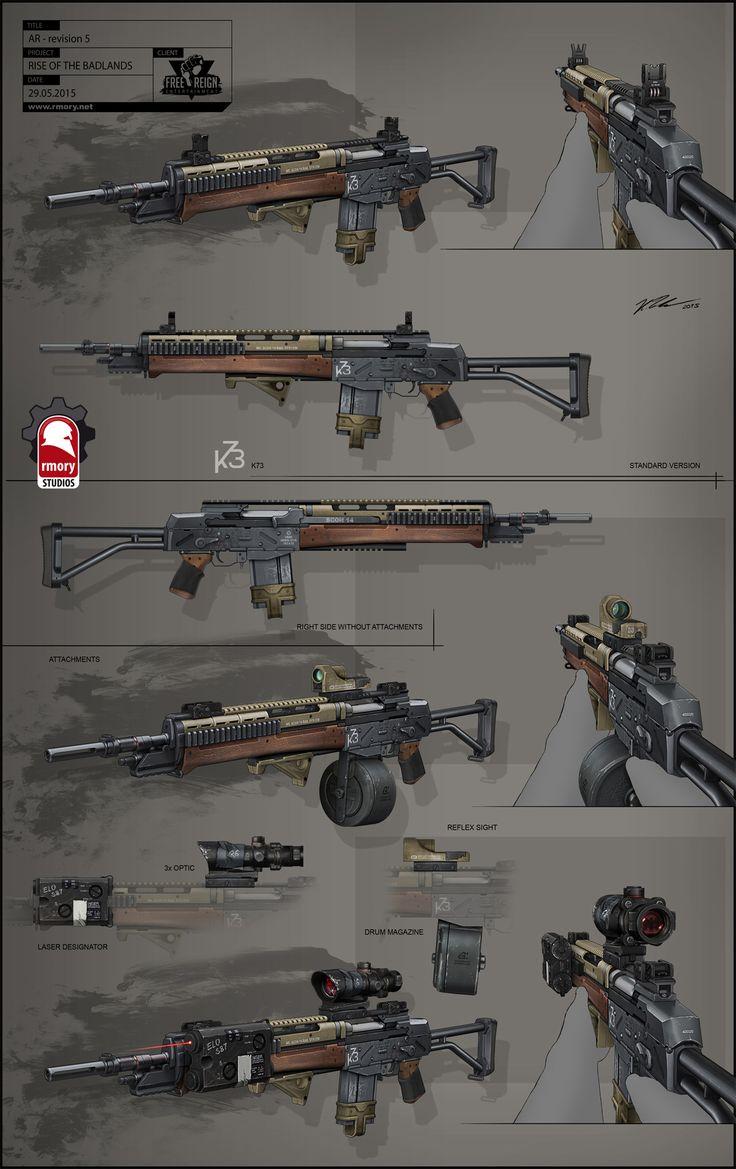 ArtStation - Rise of the Badlands Assault Rifle, Kris Thaler