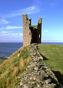 Dunstanburgh castle in Northumberland. Great English Heritage property, atmospherically located.
