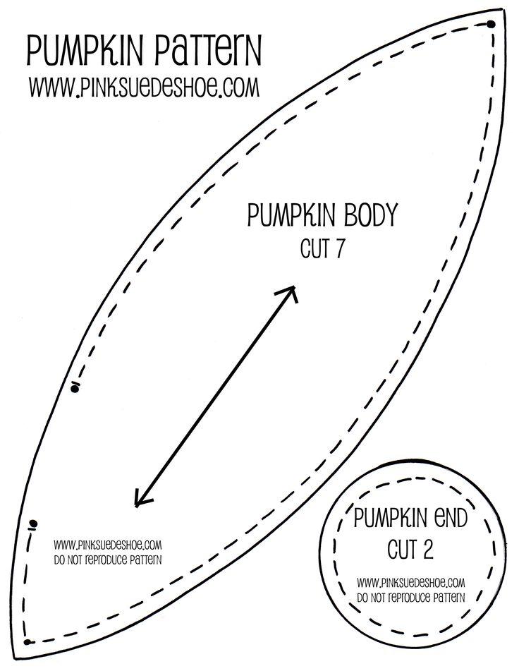 fabric pumpkin pattern free | Fall Pumpkins Tutorial | pinksuedeshoe