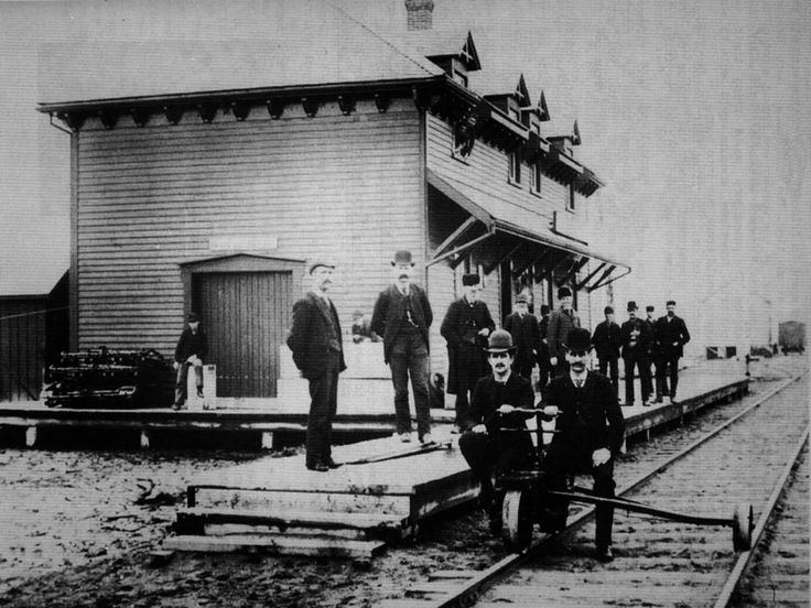 South Norfolk #Railroad Station, St. Williams, circa 1900, later property of  Grand Trunk Railroad and Canadian National Railroad in 1923.