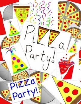 Pizza Party Clipart Bundle - Great for Teaching Fractions too | Pizza ...
