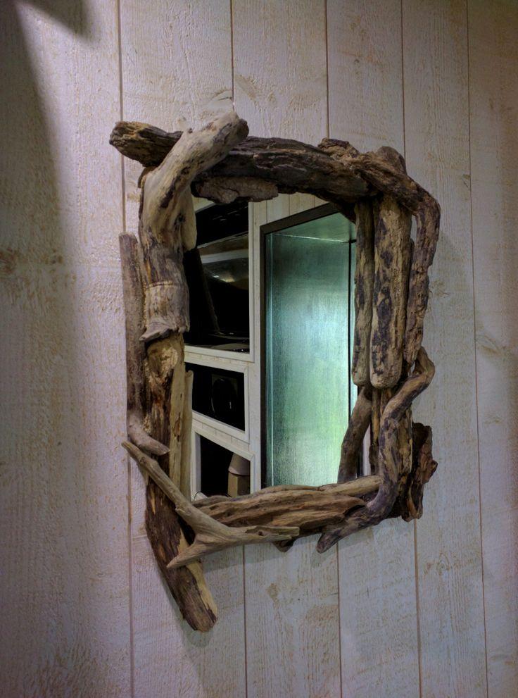 17 meilleures id es propos de miroir bois flott sur pinterest miroir lumineux encadrer un. Black Bedroom Furniture Sets. Home Design Ideas