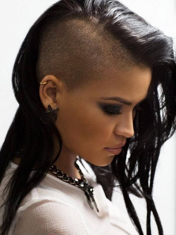 Cassie's hair, seriously undercut.