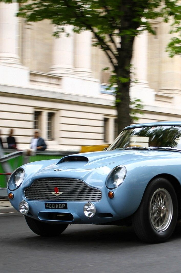Aston Martin DB4 GT. not a traditional Aston colour, but I think the sky blue really suits it.