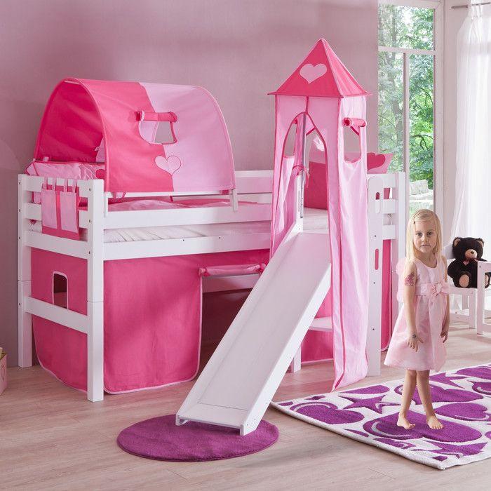 hochbett elyias mit turm 90 x 200 cm matilda and budgeting. Black Bedroom Furniture Sets. Home Design Ideas