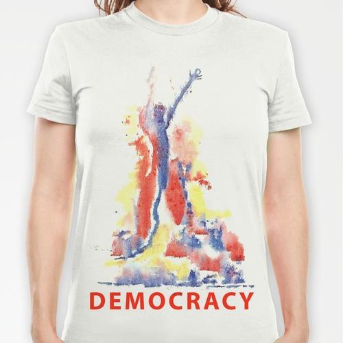 democracy T-shirt, Greta Thorsdottir