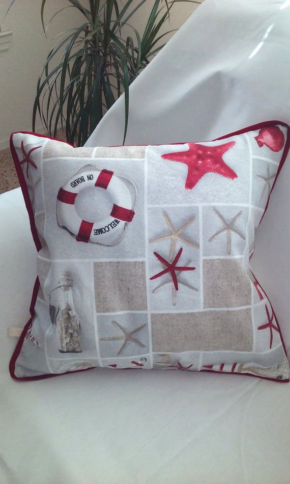 Then I Made This Pillow Case For You Because Cover Is With Decorative Fabric Recalls In Us A Summer Vacation The Sea