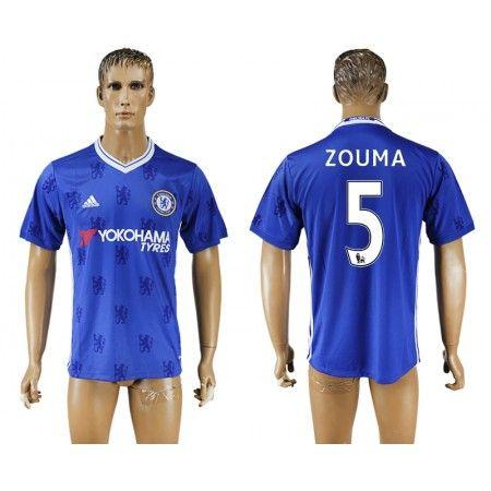 Chelsea 16-17 #Zouma 5 Hjemmebanetrøje Kort ærmer,208,58KR,shirtshopservice@gmail.com