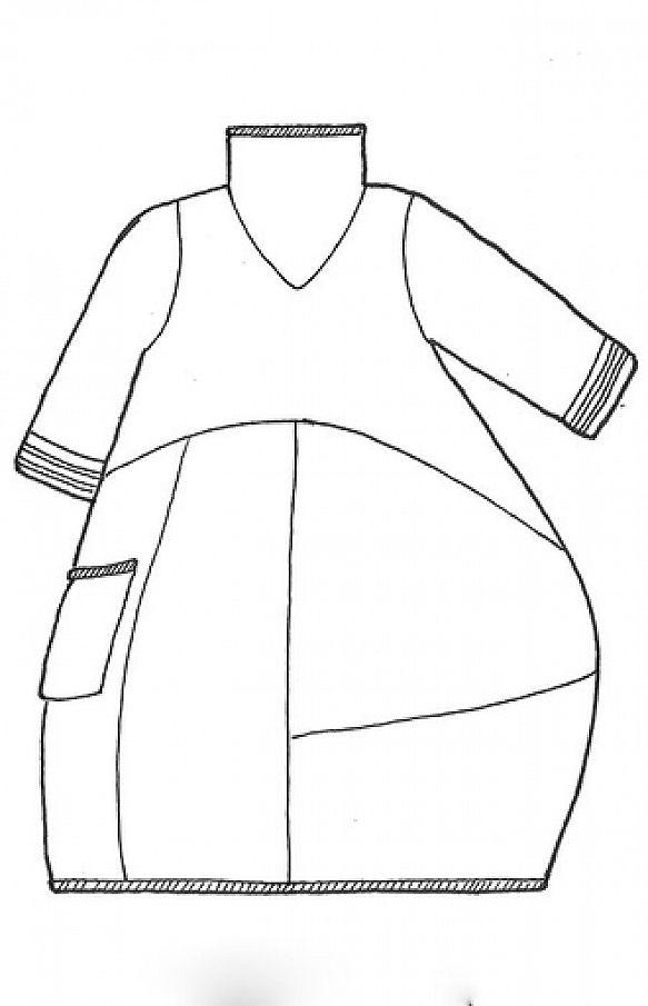 Mock Cowl Dress UnPrinted