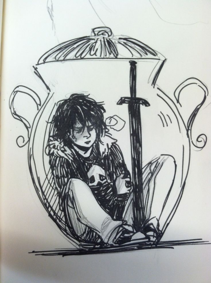 Nico, during most of The Mark of Athena. Am I the only one who thought he would be in a jam jar? Like a big one…