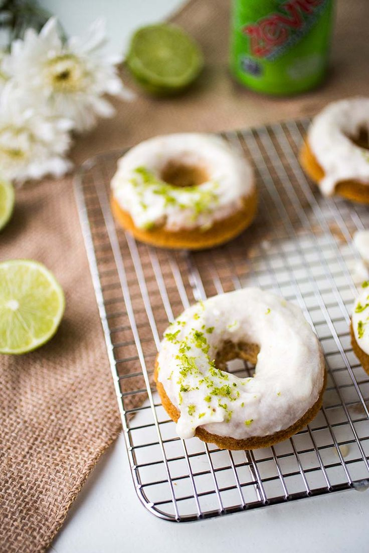 Paleo Donuts with Key Lime Frosting | Anya's Eats