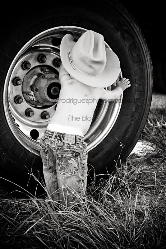 Babies in cowboy hats by big tires... cuteness! weslaco-mcallen-harlingen-childrens-photographer#Repin By:Pinterest++ for iPad#