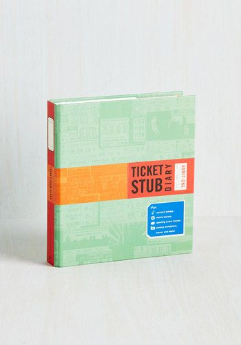 If you have a box full of ticket stubs that could use some organizational attention, this is the perfect scrapbook for you!