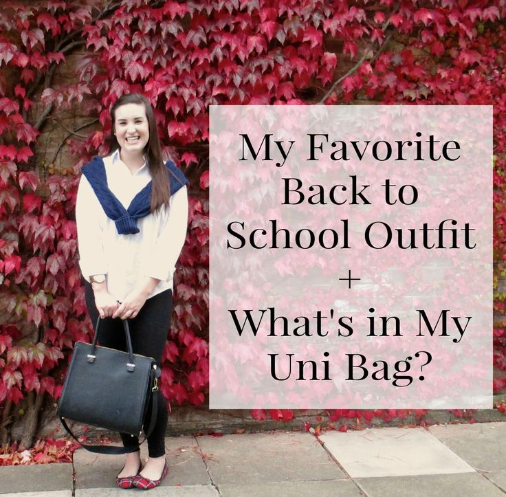 Sarah Smile: Back to School Outfit + What's in My Uni Bag?