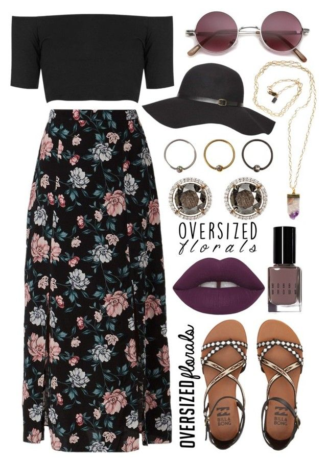 """""""Spring"""" by may-calista ❤ liked on Polyvore featuring Topshop, Billabong, Dorothy Perkins, Peggy Li, Bobbi Brown Cosmetics, Sharon Khazzam, Spring, spring2016 and oversizedflorals"""