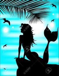mermaid silhouette - Hledat Googlem