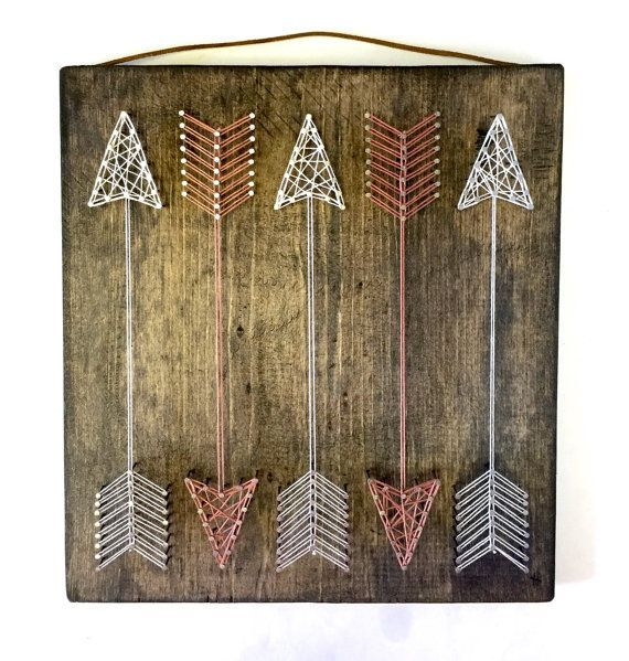 Full Quiver Arrow String Art by ThreadTherapy1 on Etsy Seriously soooo cute…
