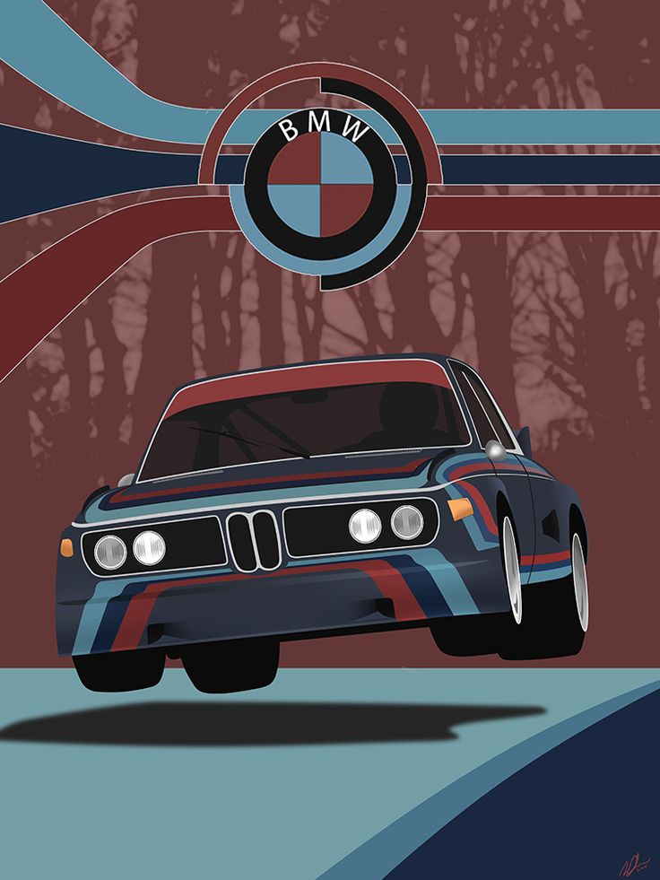 One of my favorite motorsport images. I wanted to make an illustration about it giving it my own style. The famous flying 3.0 CLS at Nurburgring.