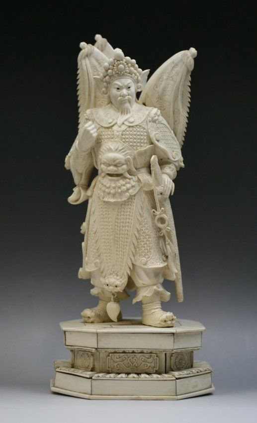 Chinese Ivory Statues | 179: Chinese Ivory Statue Of Yue ...