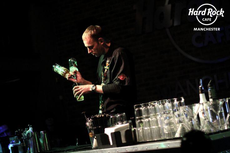 Craig from Hard Rock Cafe Edinburgh makes his first of three cocktails #Barocker