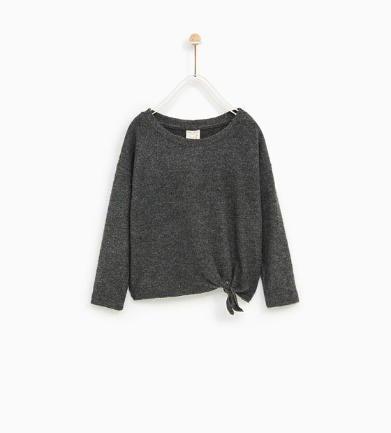 Image 1 of SOFT FEEL KNOTTED SWEATER from Zara