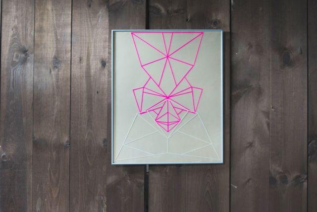 Symmetric paper cut composition by Laura Faurschou