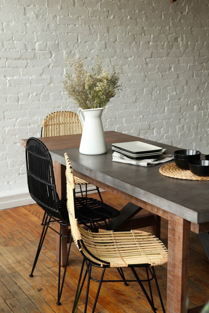 Vega Concrete Dining Table 59 W Extension With Images