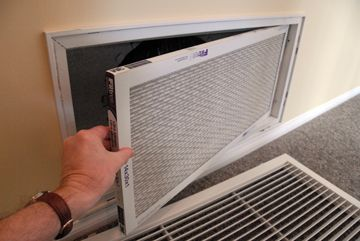 Replacing your furnace filter can help reduce dust.  Good: standard fiberglass filters Better: pleated filters                                Best: pleated electrostatic filter