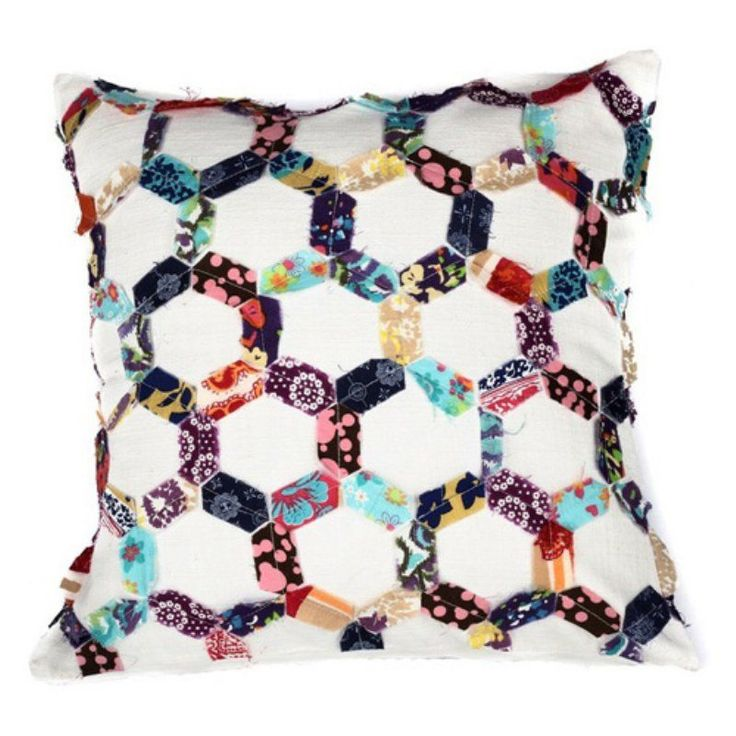 A1 Home Collections Open Hexagon Honeycomb Patchwork Throw Pillow - RCC-1682