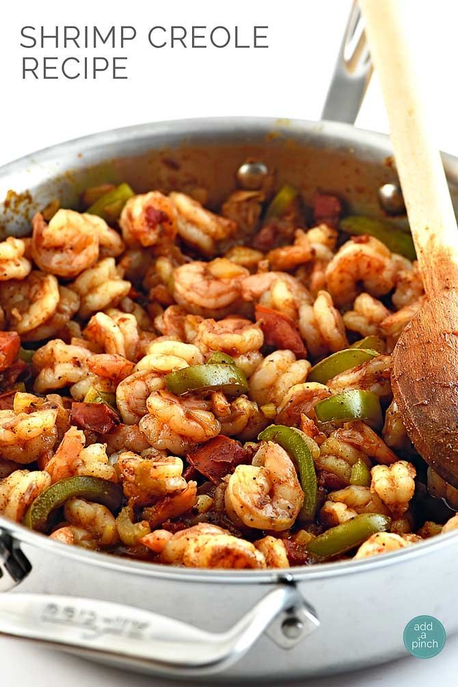 Shrimp Creole Recipe - My Mama's delicious recipe that I now love making for my family! It's a crowd favorite and so simple to make! // addapinch.com