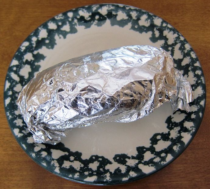 Foil Wrapped Oven Baked Potato Recipe