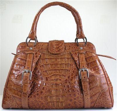 Crocodile Bag Light Brown Genuine Crocodile Leather Handbags. Great Stylish genuine crocodile alligator skin handbag in golden tan (light brown).
