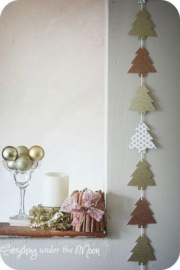 guirnalda árbol de papel: