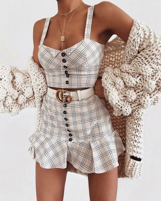 Como estilizar um conjunto xadrez # xadrez #stylt   – Mode Outfits