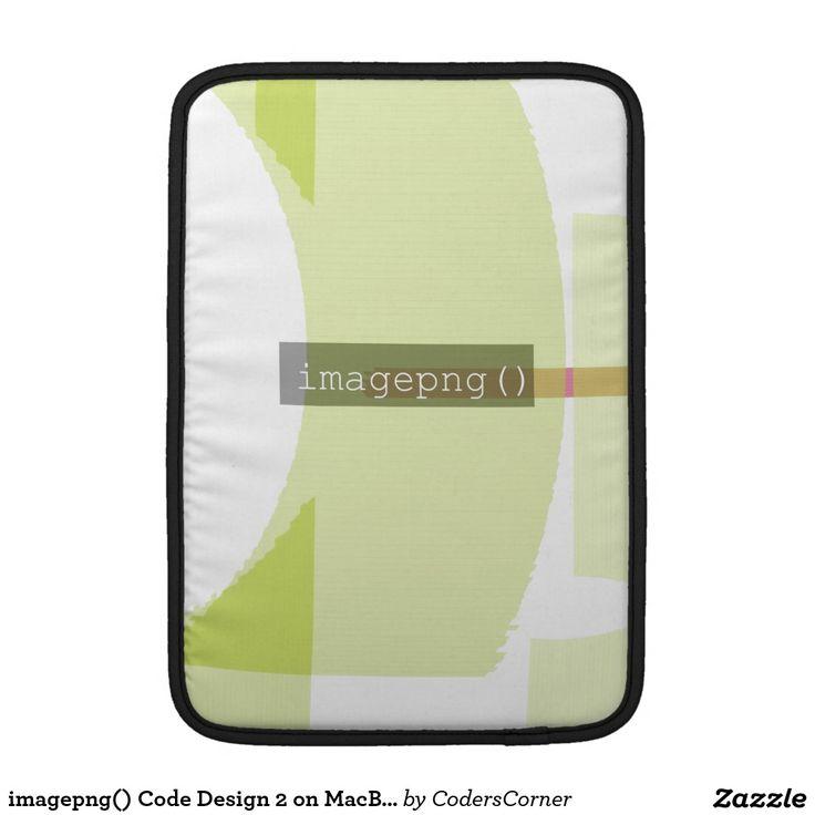 imagepng() Code Design 2 on MacBook Sleeve