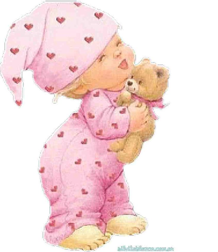 Sometimes the little grand-darlings can be coaxed to go to bed if a bear is ready to go, too.