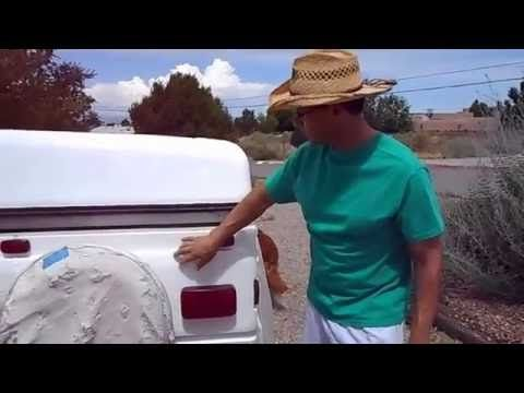 Coleman Popup Tent Trailer roof repair with SPEEDOKOTE white bedliner - YouTube