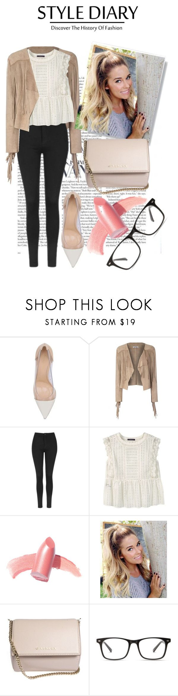 """""""Untitled No.  830"""" by catherine-megan-jones on Polyvore featuring Gianvito Rossi, Glamorous, Topshop, Violeta by Mango, Elizabeth Arden and Givenchy"""