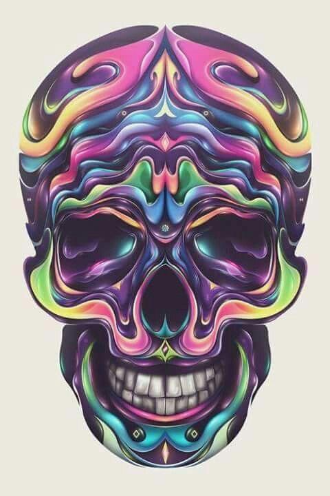 56 besten Skulls Bilder auf Pinterest | Totenköpfe, Schädelkunst und ...