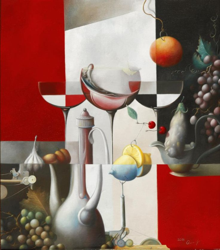 """2005 year. """"Still life with hanging fruits""""  Oleg Osipoff Official Site: http://osipoff-art.com/"""