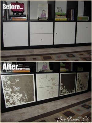 Decorating the drawers on an ikea expedit cabinet