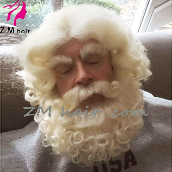 ee42f7f4d7f ZMhair customer show : yak hair lace front santa claus wig and beard + lace  mustache + lace eyebrows
