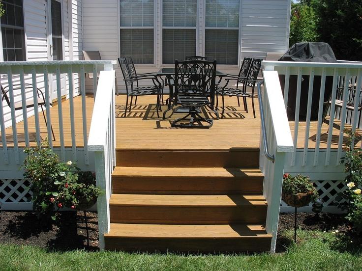 Two Tone Deck Cedar Decking And White Verticals
