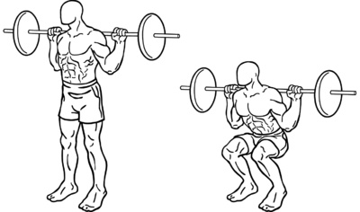 Squats - Works Legs, Butt, Core
