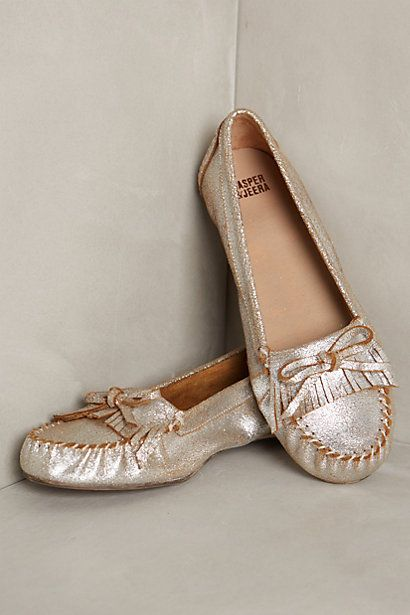 Metallic loafers #anthrofave