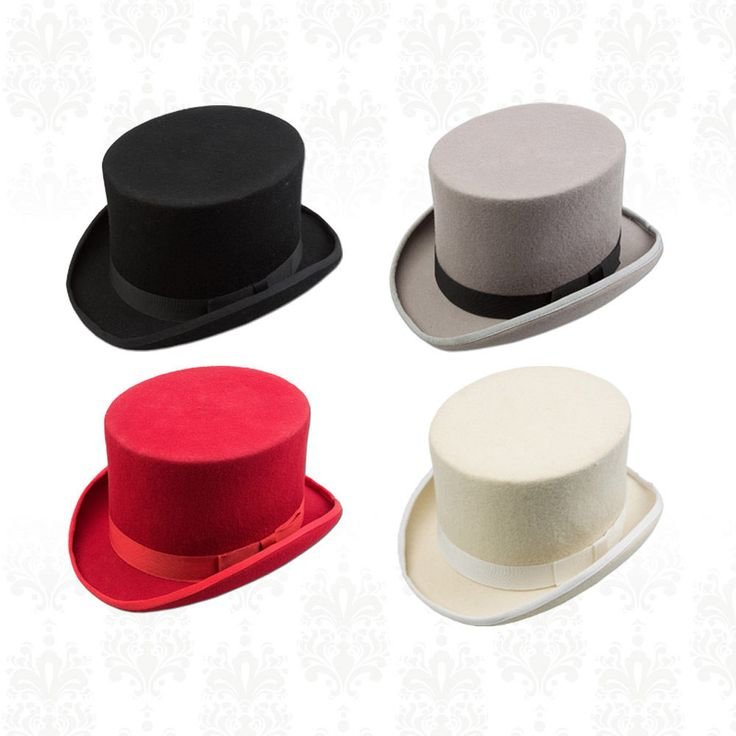 Men s Plain 100% Wool Felt Top Hat Special Occasion Wedding Groom