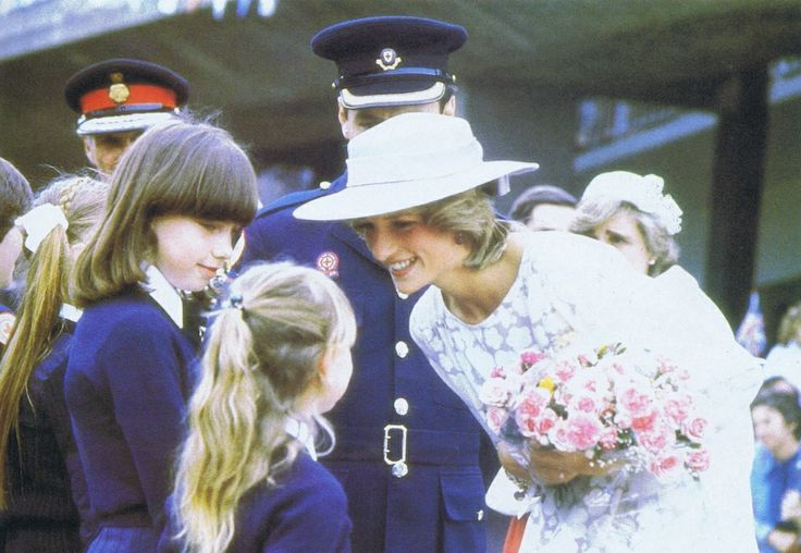 July 8, 1983:  Princess Diana on a walkabout during of the opening the new Fisher-Price Toy Factory in Peterlee, County Durham.